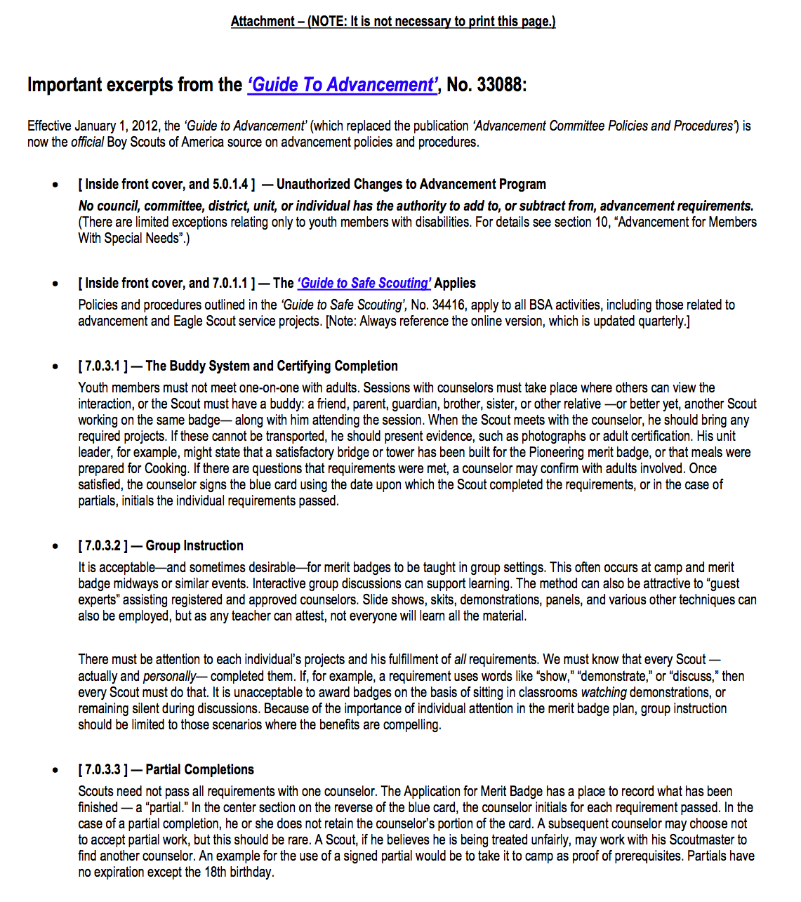 Steve Boyacks Scouting Resources – Golf Merit Badge Worksheet